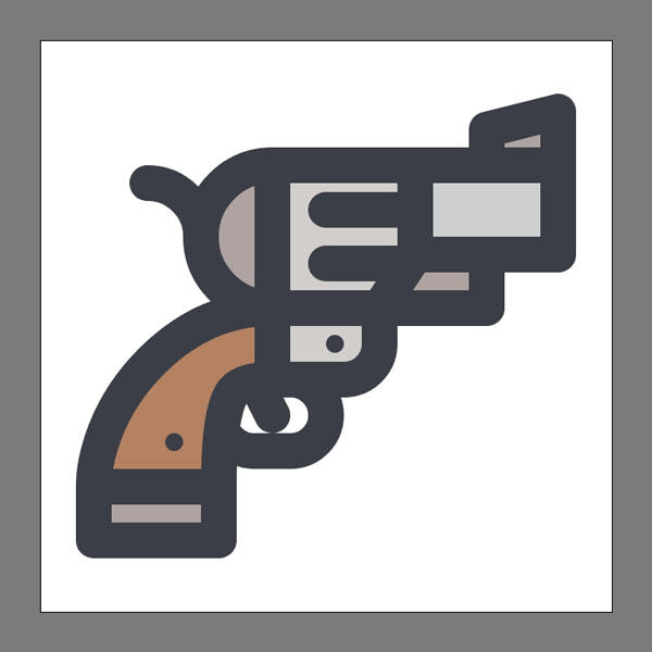 How to create a Revolver Icon in Illustrator Tutorial