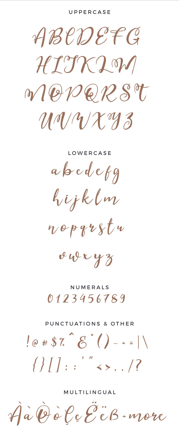 Esteh Script Free Font Letters and Numbers