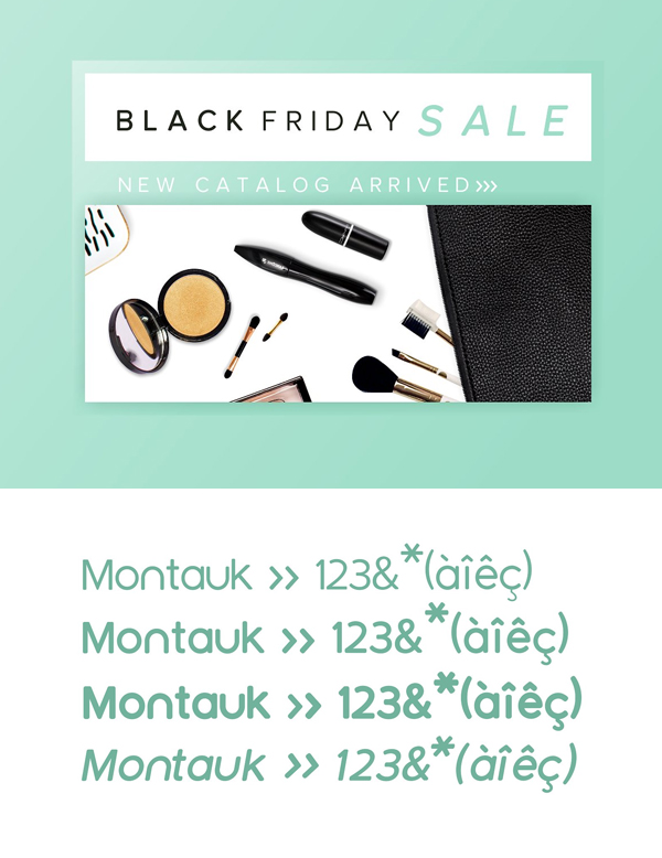 Montauk Free Font Letters and Numbers