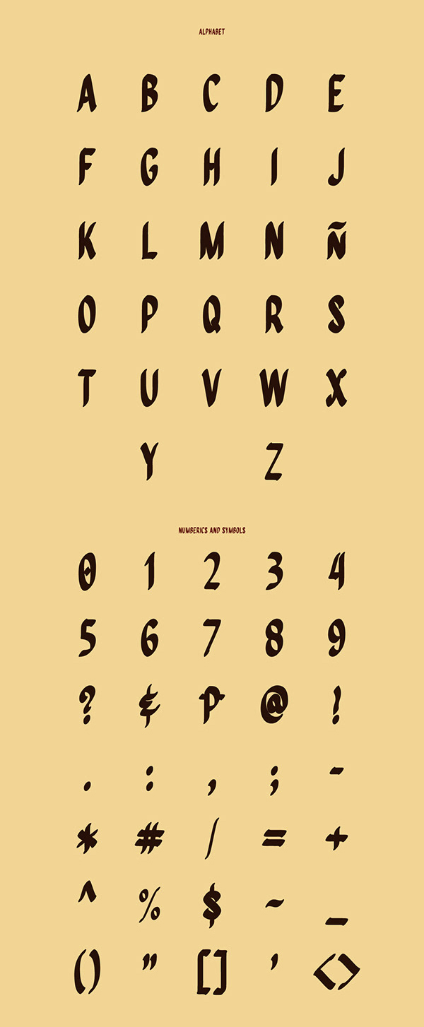 Quiapo Brush Free Font Letters and Numbers