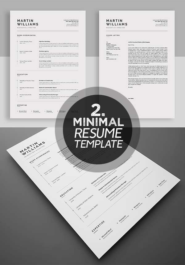 dynamic and professional resume tamplate