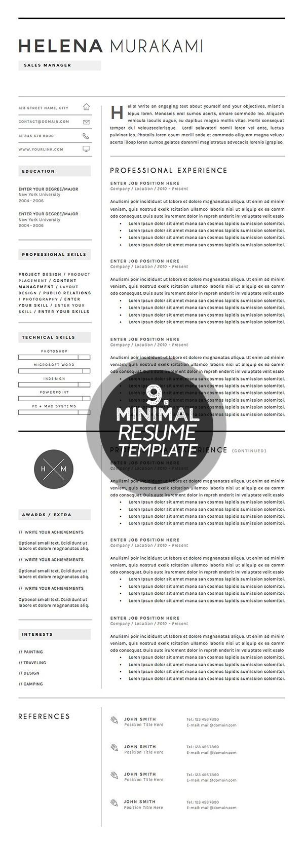 Resume Template 4 pages | Simplifier