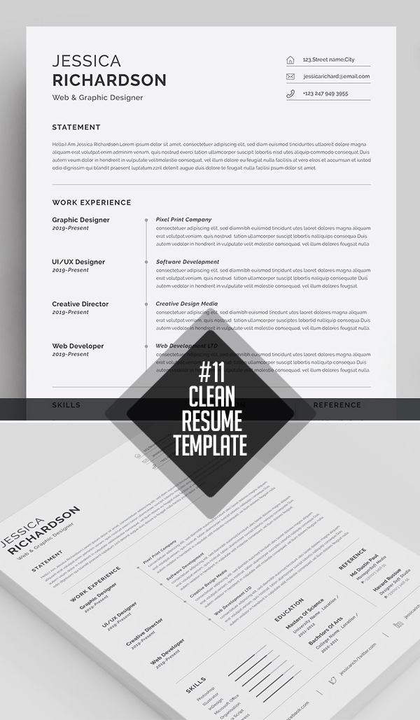 Professional & Clean Resume / CV Template