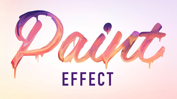 How to Make Paint Text Effect - Photoshop Tutorial Typography