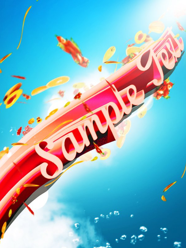 Create Fresh Fruit 3D Text Effect in Photoshop