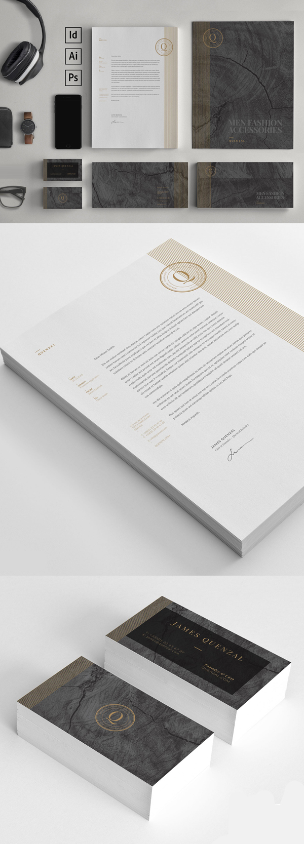 Modern Business Branding / Stationery Templates Design - 3