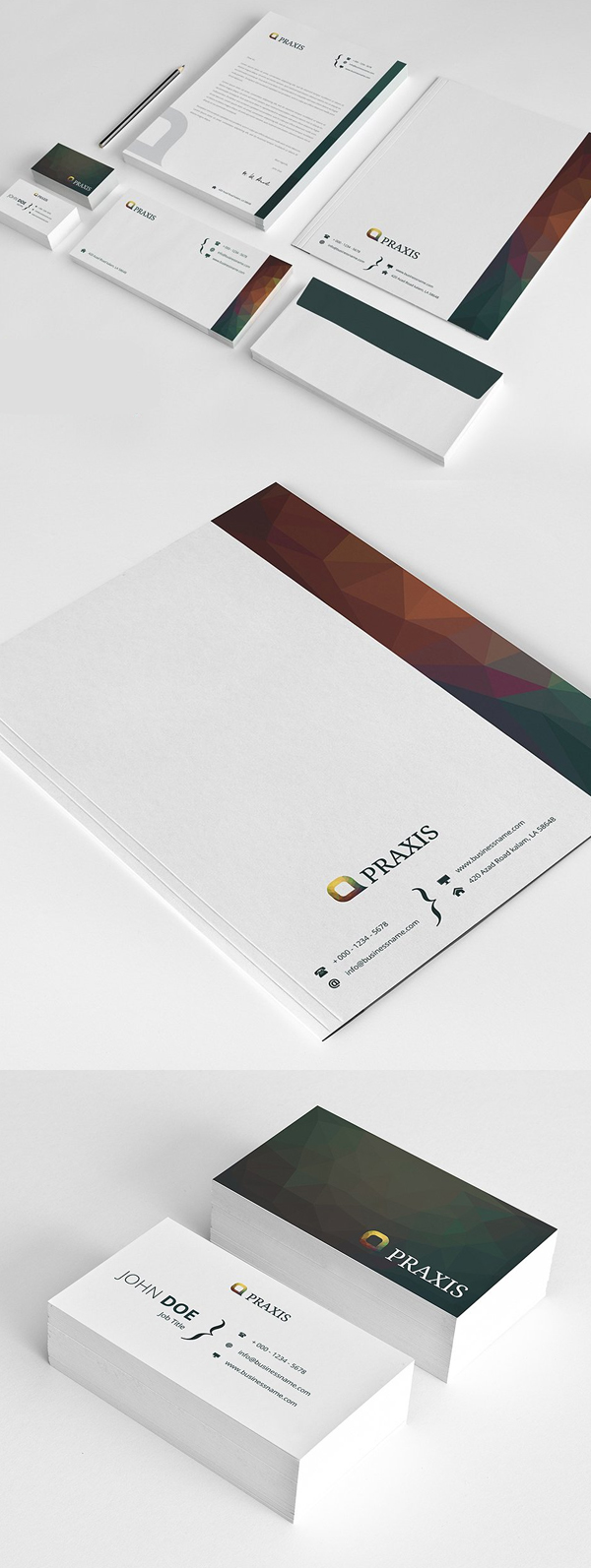 Modern Business Branding / Stationery Templates Design - 8