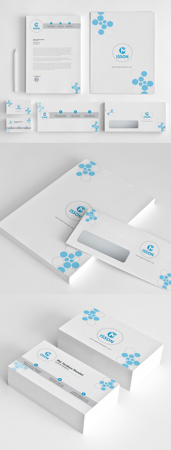 Modern Business Branding / Stationery Templates Design - 9