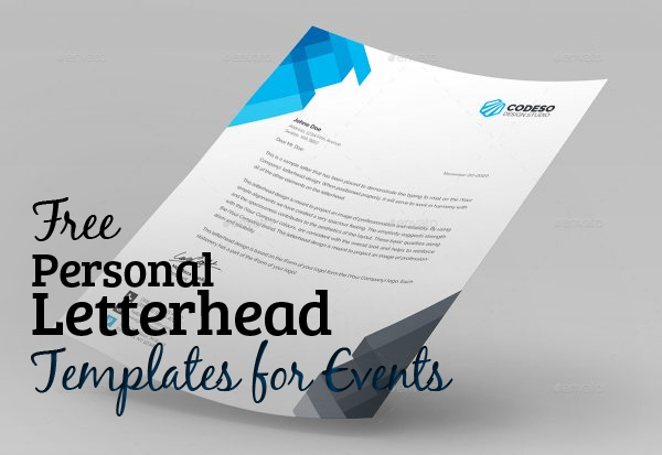5 Free Personal Letterhead Templates for Events