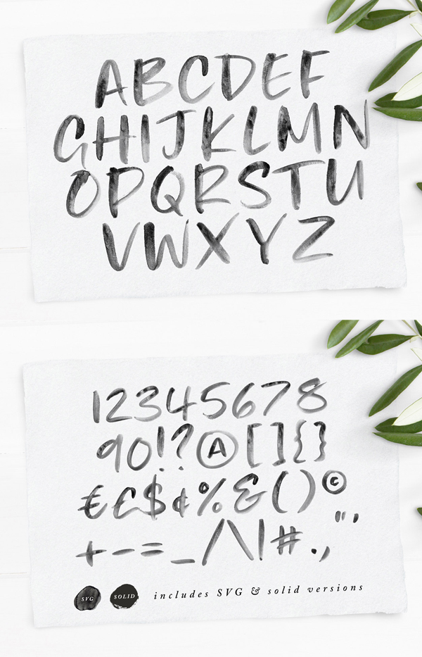 Ivory Heart Font Letters