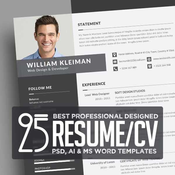 25 Best Resume Templates with Cover Letter