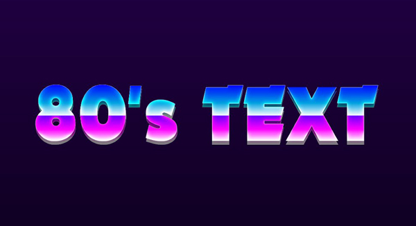 How To Make 80's Retro Text   Photoshop Touch Tutorial