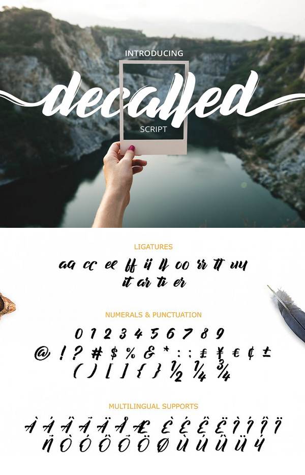 Decalled Free Script Font