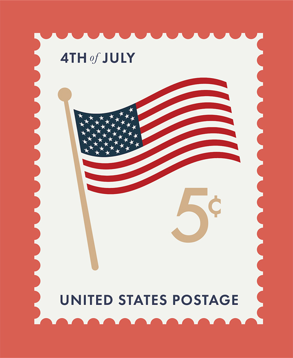 Free Independence Day Vector Stamp
