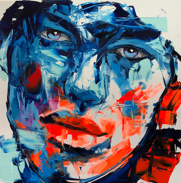 Amazing Graffiti Portrait Painting by Francoise Nielly - 1