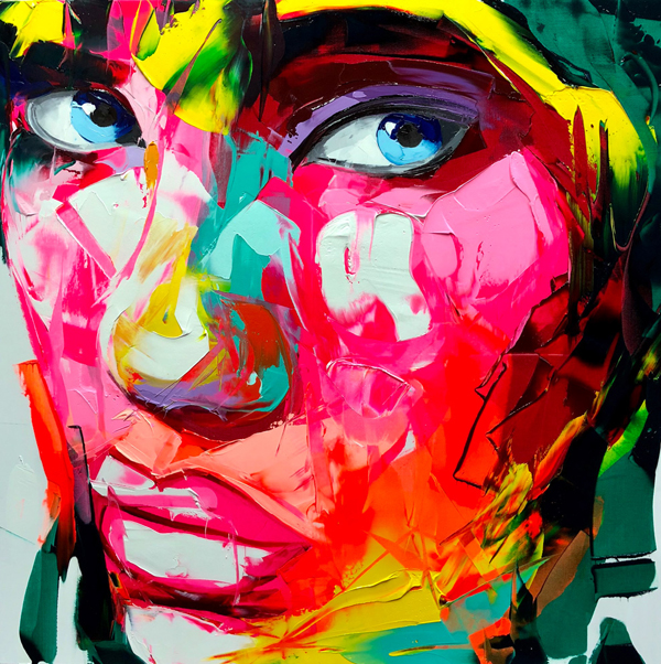 Amazing Graffiti Portrait Painting by Francoise Nielly - 11