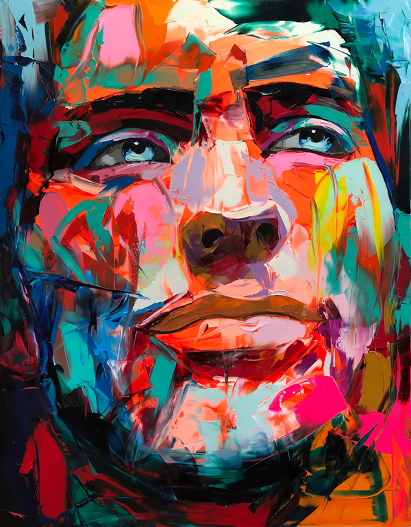 Amazing Graffiti Portrait Painting by Francoise Nielly - 13