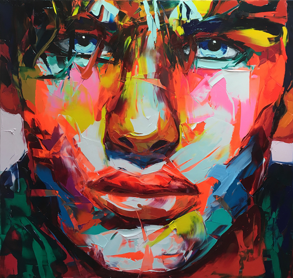 Amazing Graffiti Portrait Painting by Francoise Nielly - 16