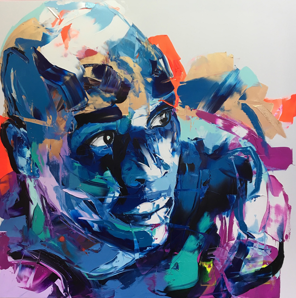 Amazing Graffiti Portrait Painting by Francoise Nielly - 23