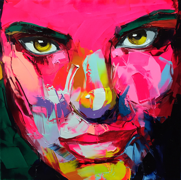 Amazing Graffiti Portrait Painting by Francoise Nielly - 5