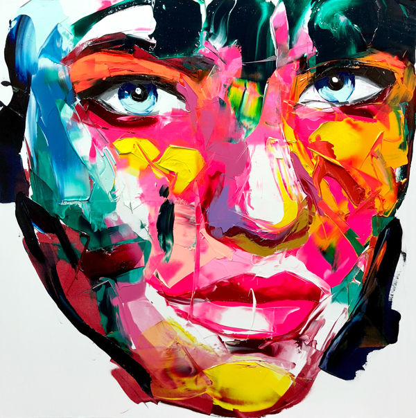 Amazing Graffiti Portrait Painting by Francoise Nielly - 9