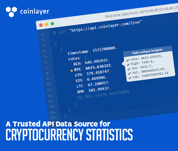 Coinlayer: A Trusted API Data Source for Cryptocurrency Statistics