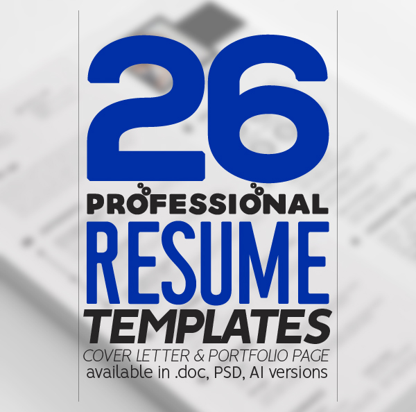 26 Professional Resume Templates with Cover Letters
