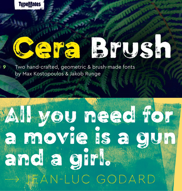 Cera Brush Free Font - 50 Best Free Brush Fonts
