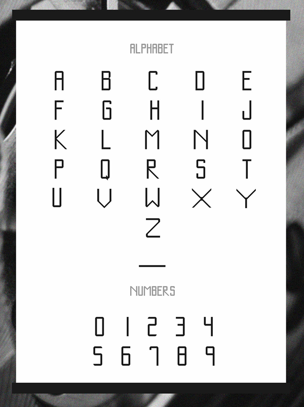 Kalibre fonts and letters