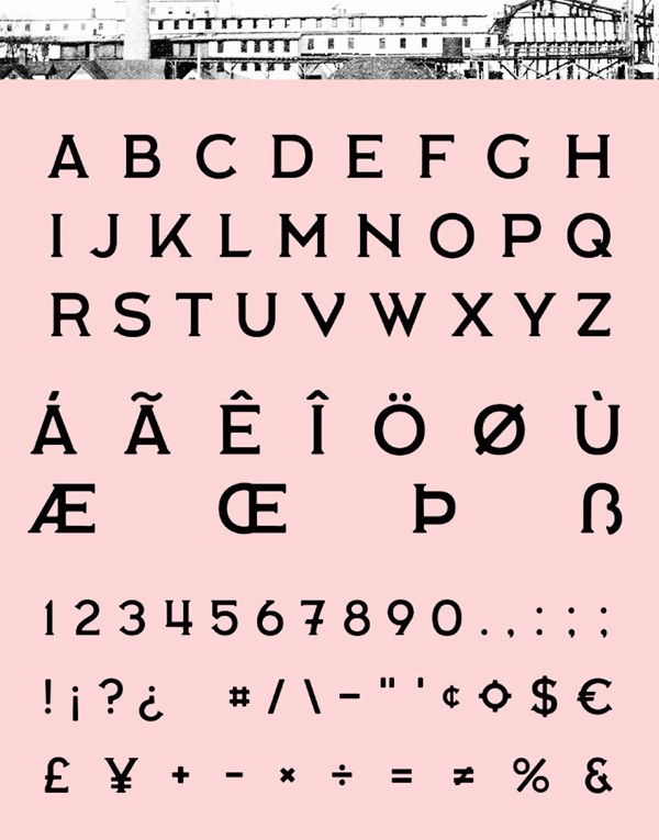 Labor Union fonts and letters