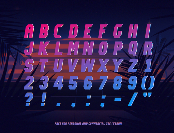 Lost Angeles Font Letters