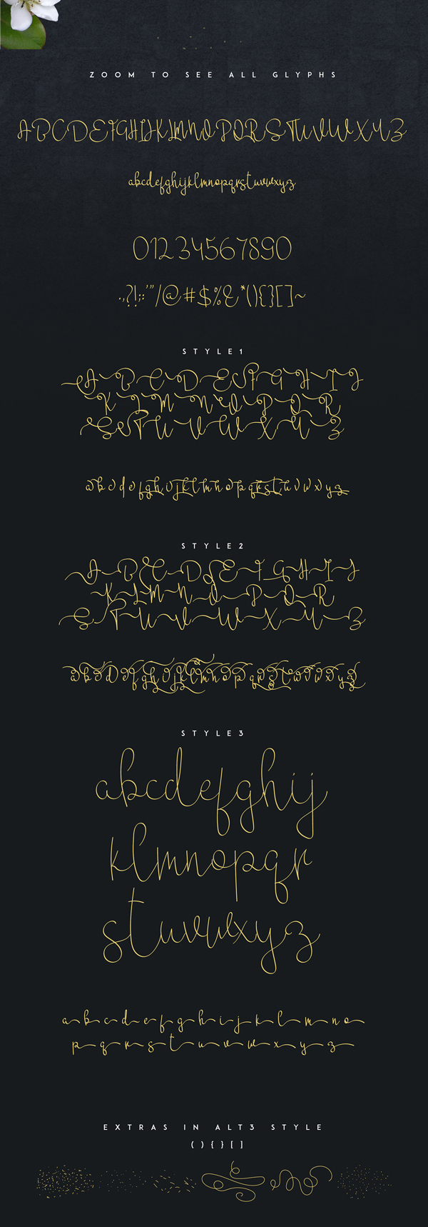Mikaela Script fonts and letters