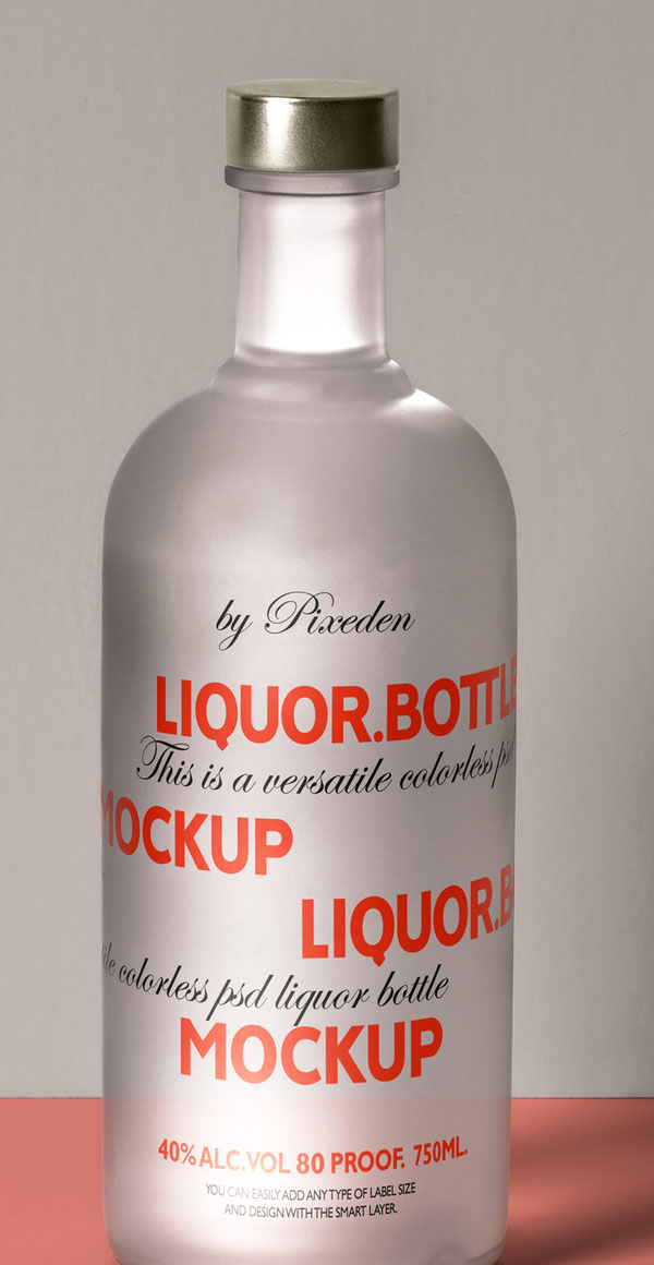 Free Psd Liquor Bottle Mockup Template