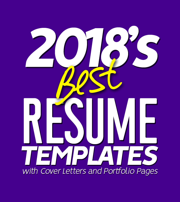 2018's Best Selling Resume Templates
