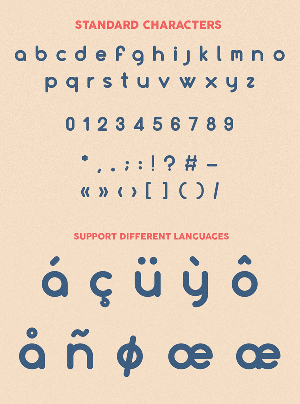 Culonite Rounded Font Letters