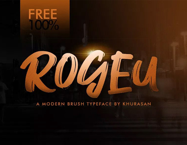 Rogeu Free Brush Font - 50 Best Free Brush Fonts