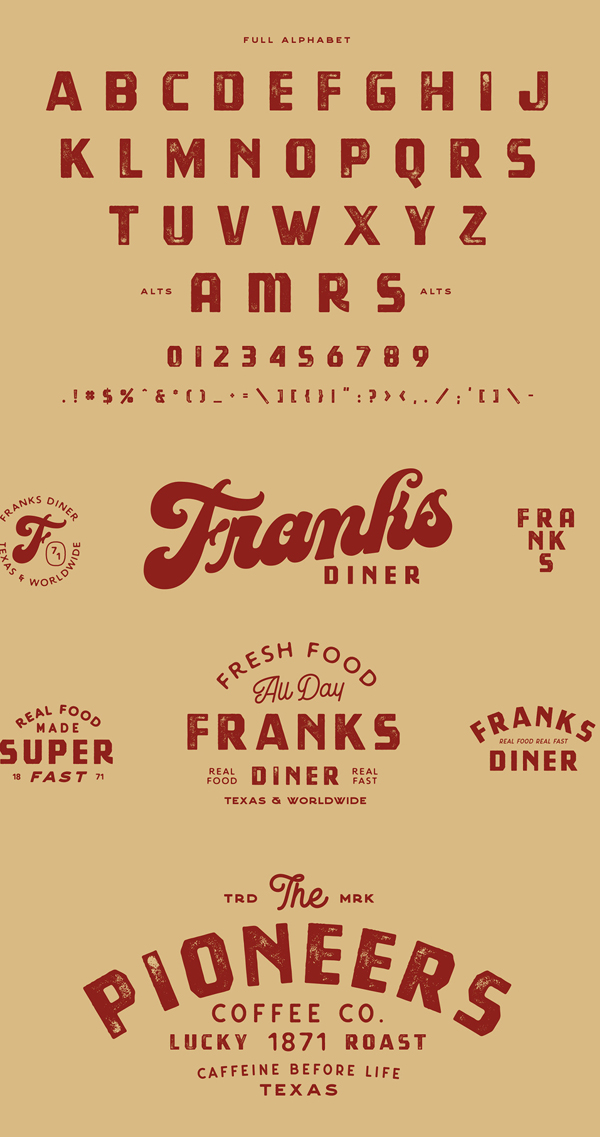 Tradesmith Vintage Font Letters