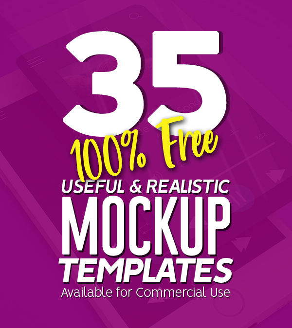 35 New Useful Free PSD Mockup Templates
