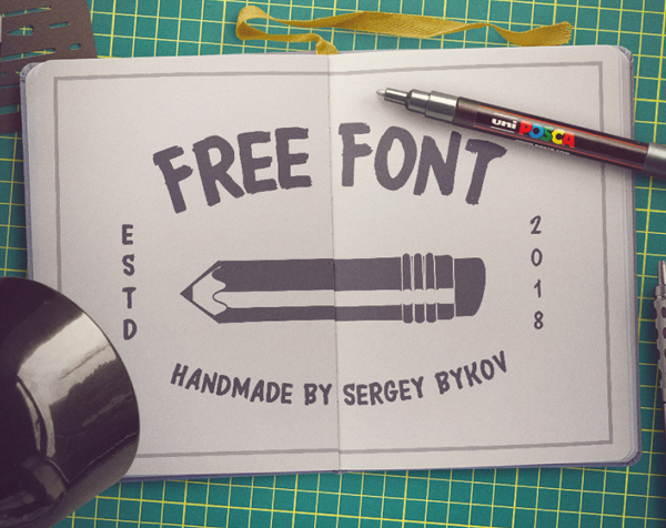 FreeFont Brush Free Font - 50 Best Free Brush Fonts