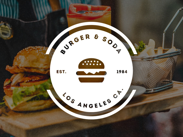 Burget and Soda Logo / Retro Badge by Design District