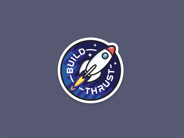 Build Thrust Sticker by Mike Ramos