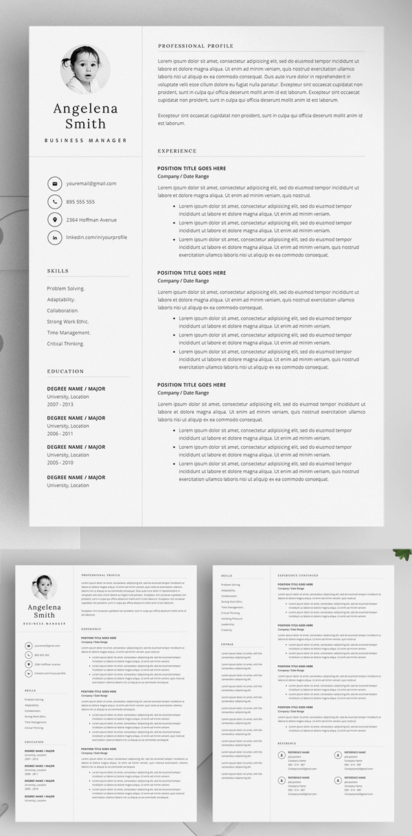Resume Template Layout / CV