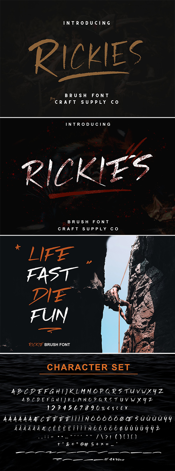 Rickies - Brush Font