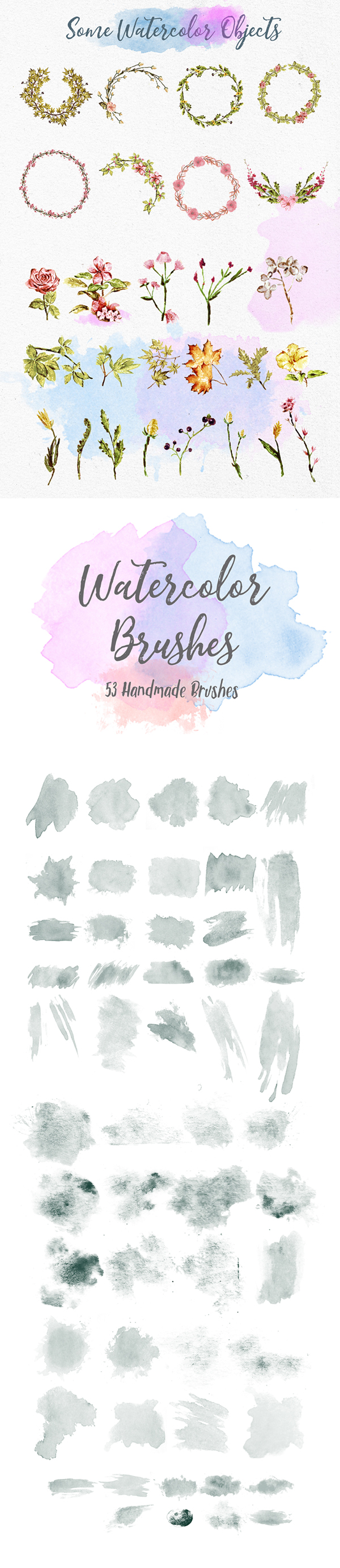 Jane Austin Font Watercolor Brushes