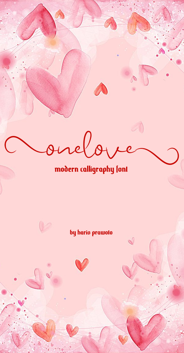 Onelove Calligraphy Script Free Font Design
