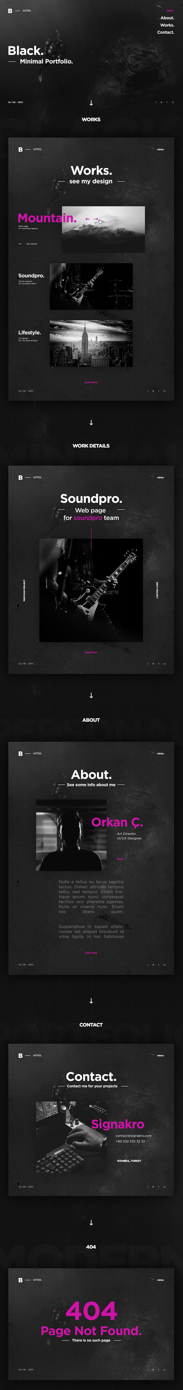 Freebies for 2019: Free Creative Portfolio Template (HTML and PSD Version)