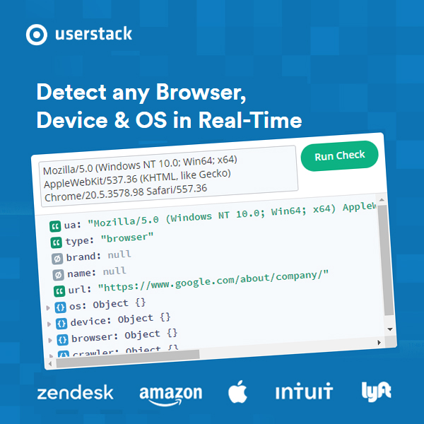 Make device detection feasible with Userstack