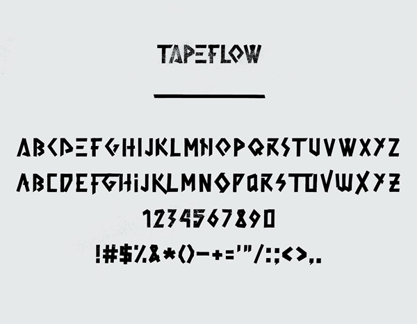 Tape Flow Hand-crafted Font Letters