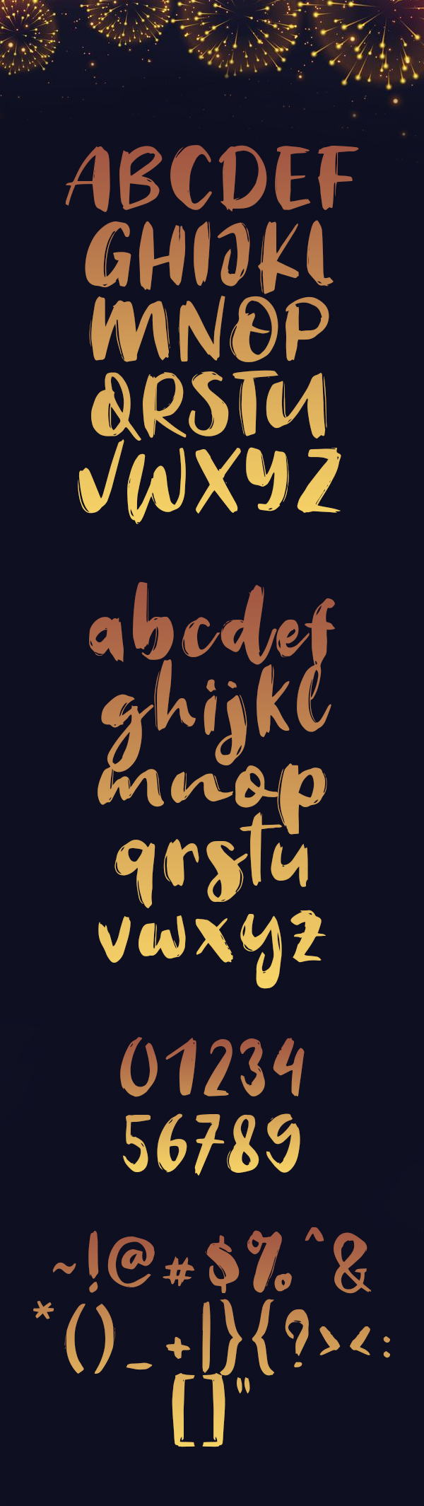 Welcome 2019 Font Letters