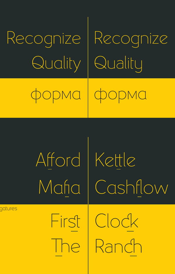 Yellow Peas Font Letters